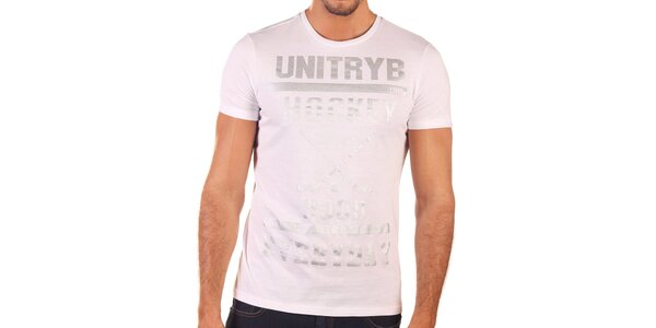 Pánské bílé tričko s krátkým rukávem Unitryb