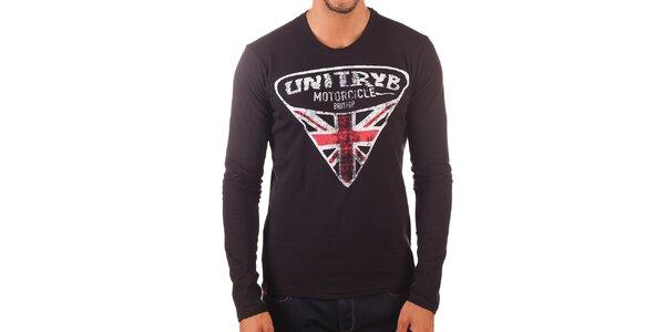 Pánské tričko s dlouhým rukávem a potiskem Unitryb