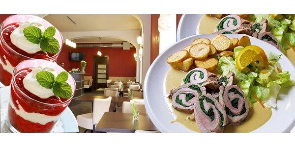 Vynikající menu pro 2 v centru Prahy