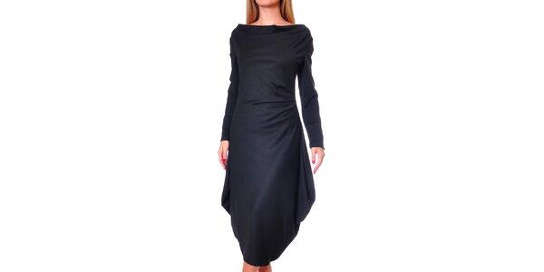 Dámské černé šaty s volnou sukní Avangard
