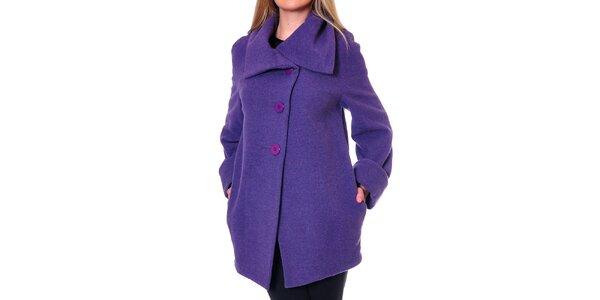 Dámský fialový oversized kabát Daka
