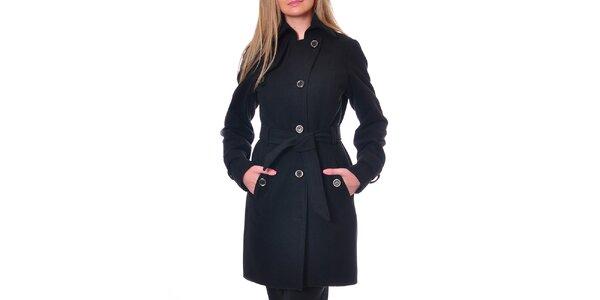 Dámský černý kabát Daka