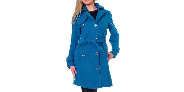 Dámský kobaltově modrý kabát Daka