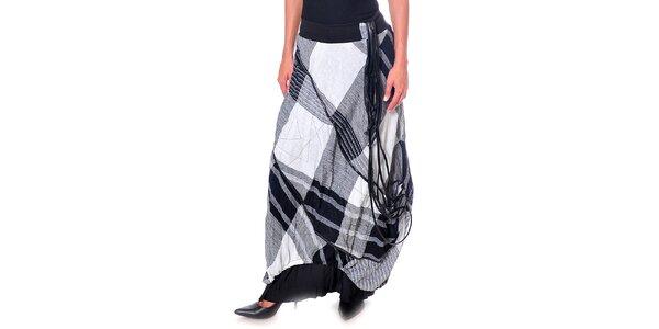 Dámská černo-bílá károvaná sukně Daka
