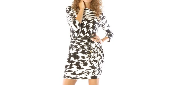 Dámské černo-bíle vzorované šaty Silvana Cirri