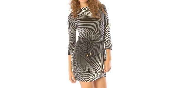 Dámské šedo-černě vzorované šaty Silvana Cirii