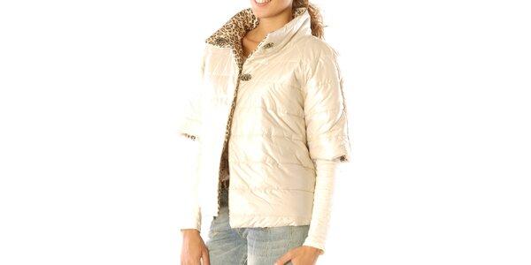 Dámský oboustranný leopardí kabátek s krémovou stranou Silvana Cirri