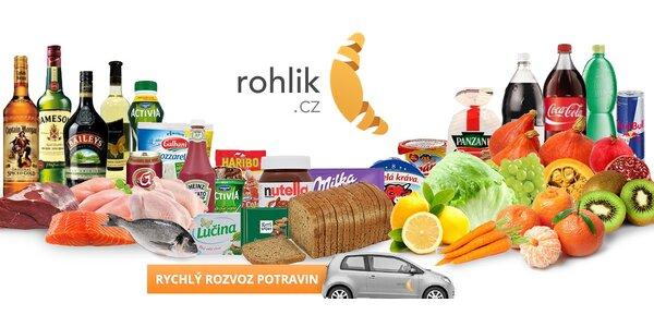 500 Kč na nákup v online supermarketu Rohlik.cz