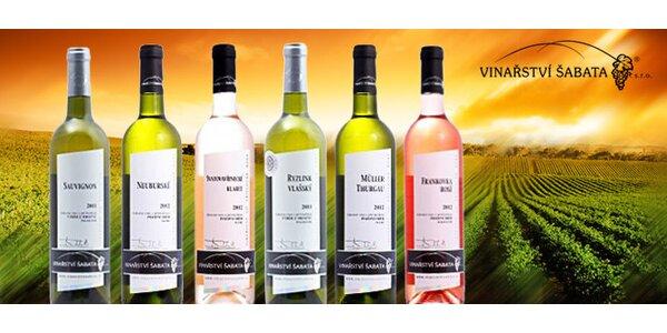 6 přívlastkových vín z rodinného vinařství Šabata