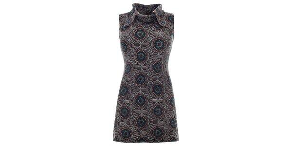 Dámské vzorované šaty bez rukávů Purple Jam