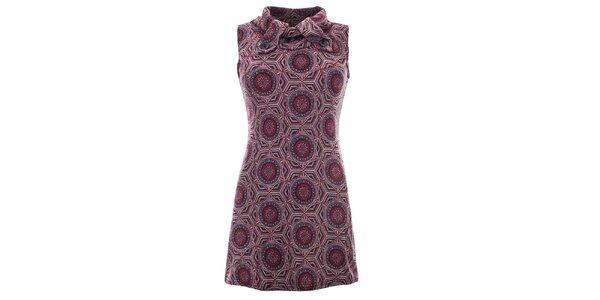 Dámské šaty se vzorem a bez rukávů Purple Jam