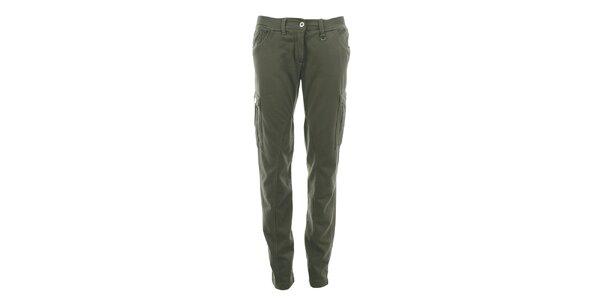 Dámské bavlněné kalhoty s kapsami Aeronautica Militare