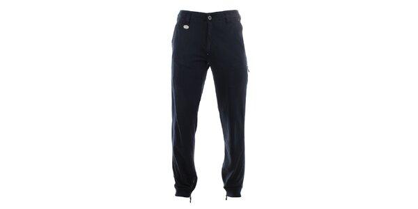 Pánské tmavé kalhoty se zipy u kotníků Aeronautica Militare