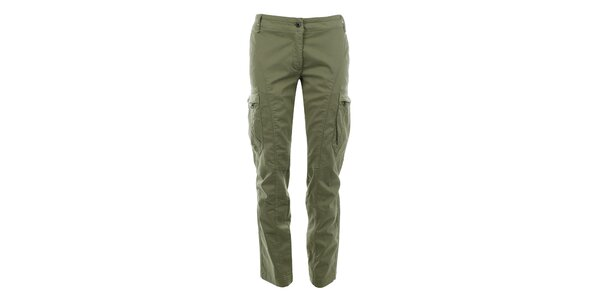 Dámské kalhoty s kapsami na nohavicích Aeronautica Militare
