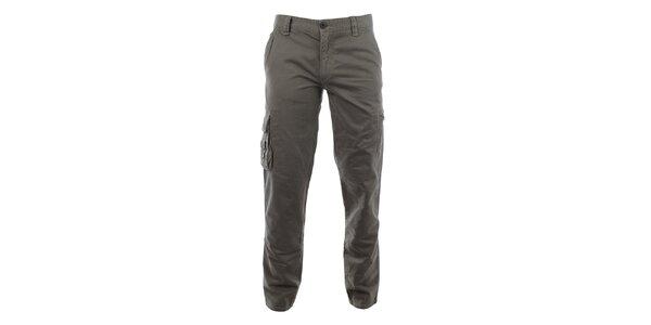 Pánské šedé kalhoty Aeronautica Militare