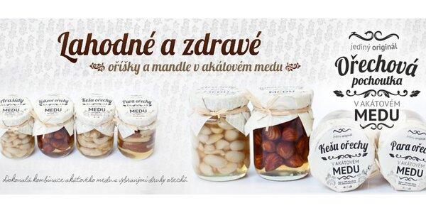6× ořechy v akátovém medu