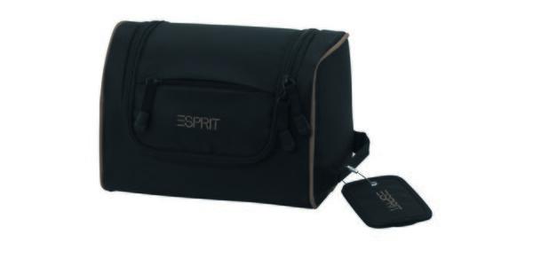 Černá/khaki kosmetická taška ESPRIT
