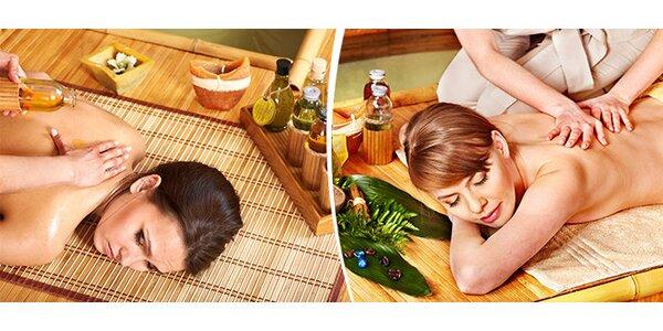 Orientální olejová masáž s lávovými kameny a indickou masáží hlavy