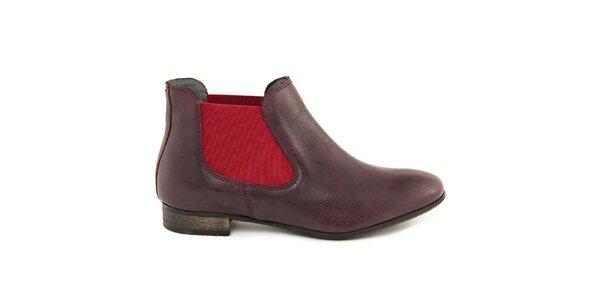 Dámské vínové chelsea boty Giorgio Picino