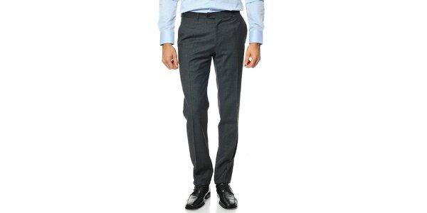 Pánské šedé vlněné kalhoty Uomini Italiani