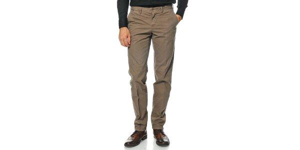 Pánské hnědé kalhoty Uomini Italiani