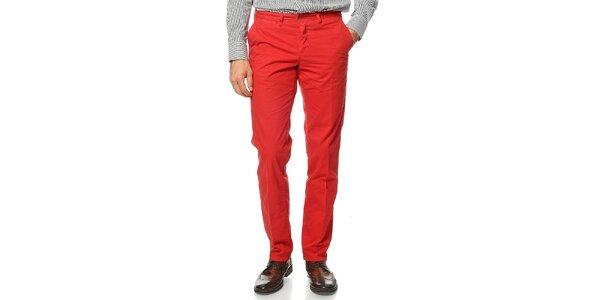 Pánské červené kalhoty Uomini Italiani