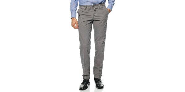 Pánské šedé kalhoty Uomini Italiani