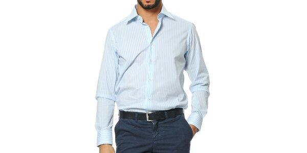Pánská modro-bílá pruhovaná košile Uomini Italiani