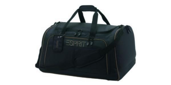 Černá/khaki sportovní cestovní taška ESPRIT