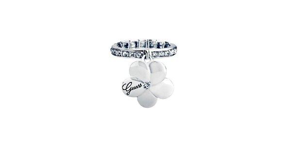 Dámský prstýnek s přívěskem kytičky Guess