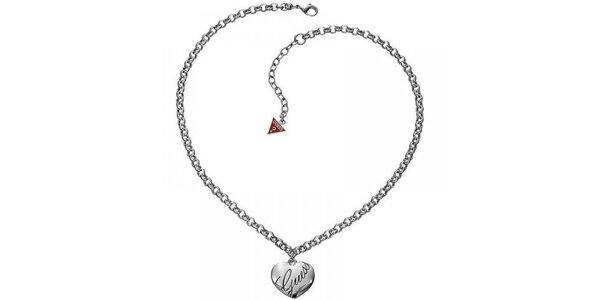 Dámský ocelový náhrdelník se srdíčkem Guess
