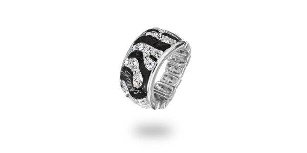 Dámský ocelový prsten s kamínky Guess