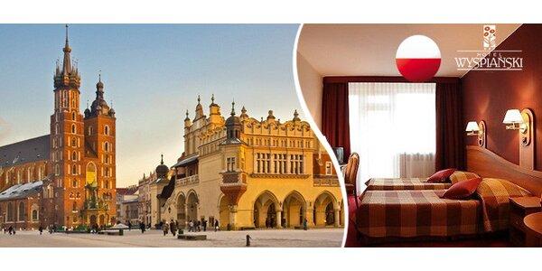 Až 4 dny v centru Krakova. 3* hotel se snídaní