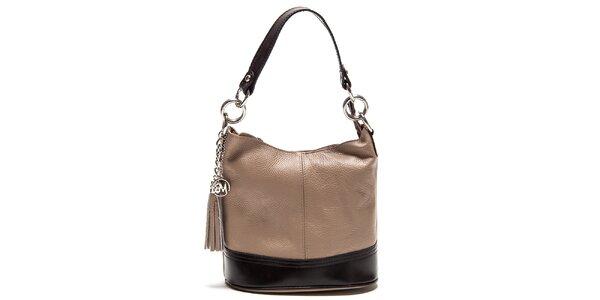 Dámská béžová kabelka s třásněmi Roberta Minelli