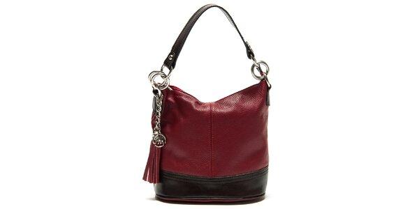 Dámská červená kabelka s třásněmi Roberta Minelli