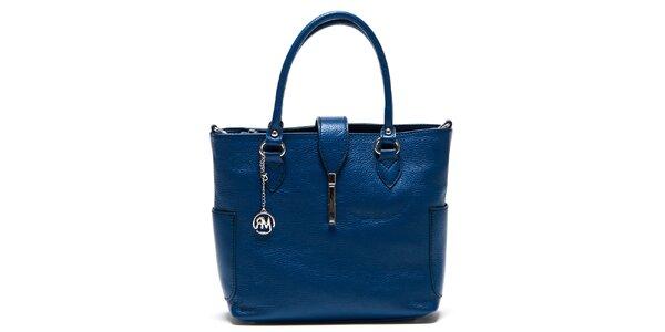 Dámská modrá kabelka s bočními kapsami Roberta Minelli