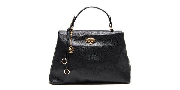 Dámská černá kabelka s poutkem a zlatým zámečkem Roberta Minelli