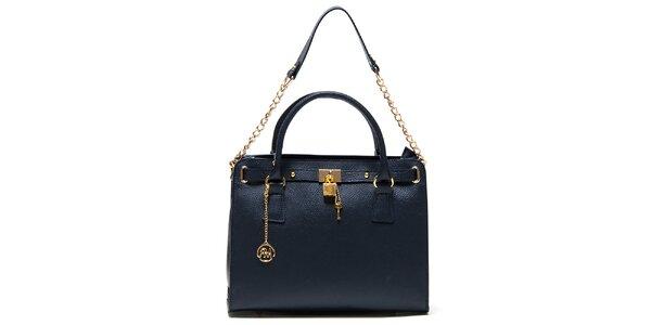 Dámská modrá kabelka s řetízkem Roberta Minelli