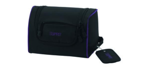 Černá/fialová kosmetická taška ESPRIT