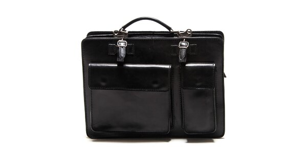 Dámská černá kabelka s kapsami Roberta Minelli