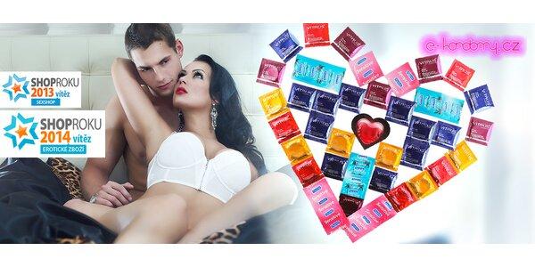 Balíčky kondomů včetně dopravy