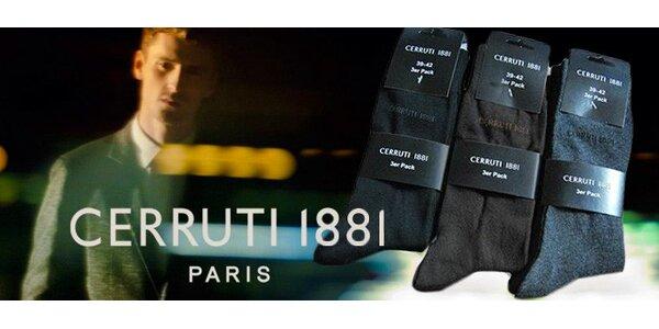 9 párů značkových ponožek Cerruti 1881 pro pány