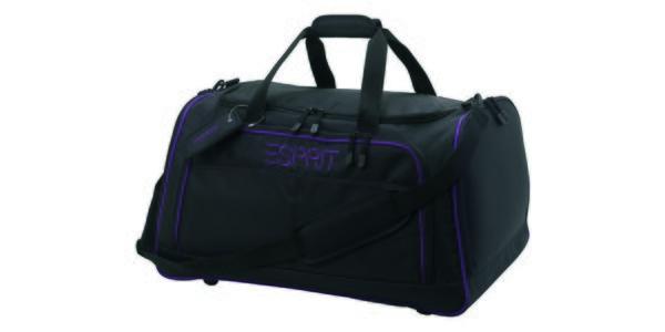 Černá/fialová cestovní taška ESPRIT