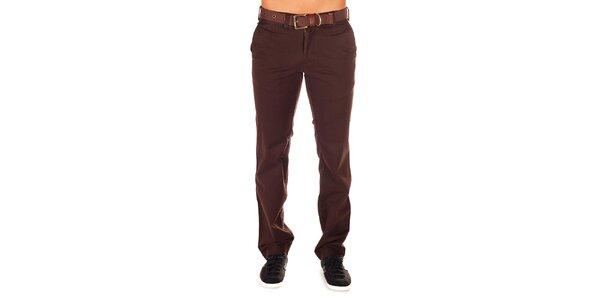 Pánské hnědé chino kalhoty Bendorff