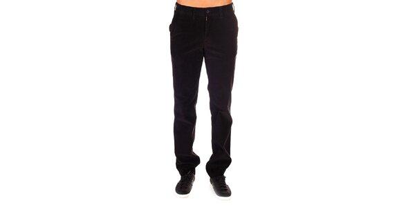Pánské tmavé manšestrové kalhoty Bendorff