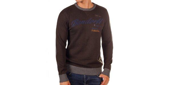 Pánský svetr s kontrastními lemy Bendorff