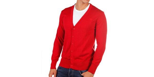 Pánský červený kardigan Bendorff