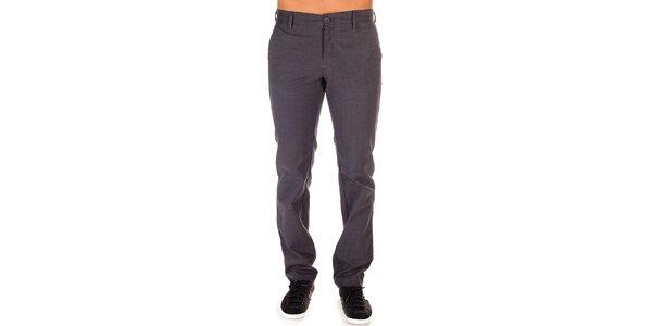 Pánské šedé kalhoty s jemným kostkovaným vzorem Bendorff