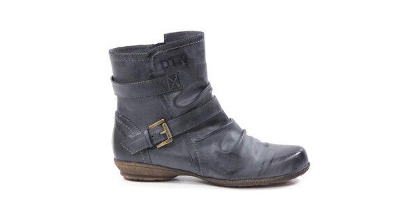 Dámské kotníkové boty s páskem Drastik