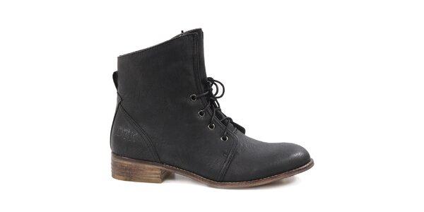 Dámské černé šněrovací boty Drastik
